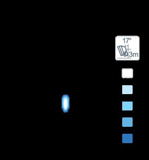 Фара Nordic Lights Vela Blue N2201 LED (синий свет)