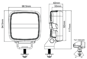 Сигнальная фара Nordic Lights Scorpius Go LED 410 (синий)