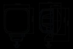 Фара Nordic Lights Scorpius PRO 415 PH (безбликовая оптика Phenom)