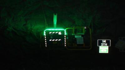 Цветные рудничные светодиодные ленты x-Glo для системы безопасности шахт