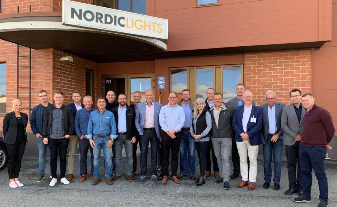Партнерская встреча в штаб-квартире завода NORDIC LIGHTS® в Финляндии