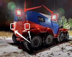 Светодиодные фары NORDIC LIGHTS® для вездехода «Шаман» (Авторос)