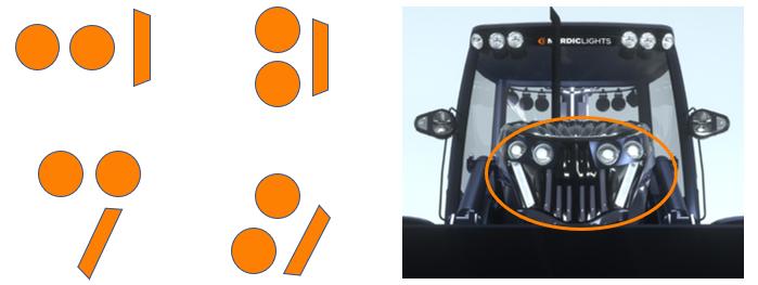 Передний светодиодный фонарь CUE 3-в-1
